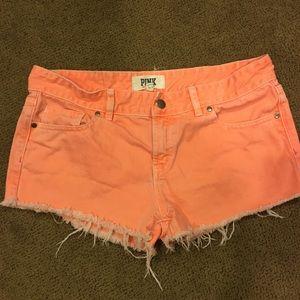 Victoria's Secret Pink size 8 jean shorts orange